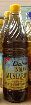 Bottle of Indian mustard seed oil.