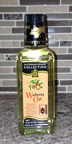 Bottle of walnut oil.